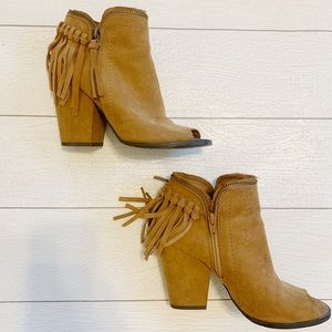 DVF Western Fringe Ankle Booties